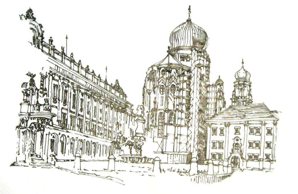 大师手绘街景图片