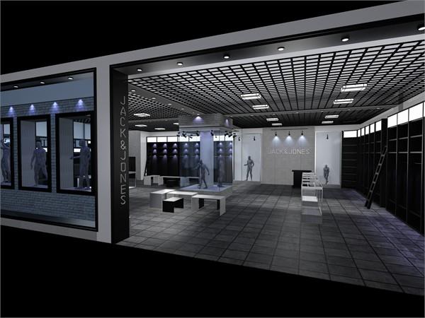 黑白灰展厅设计