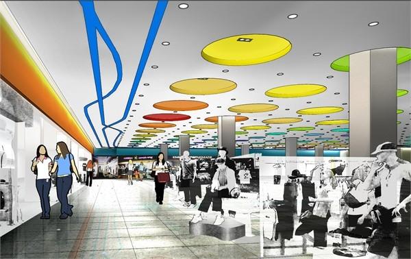 唐山百货大楼超级商场室内设计图片
