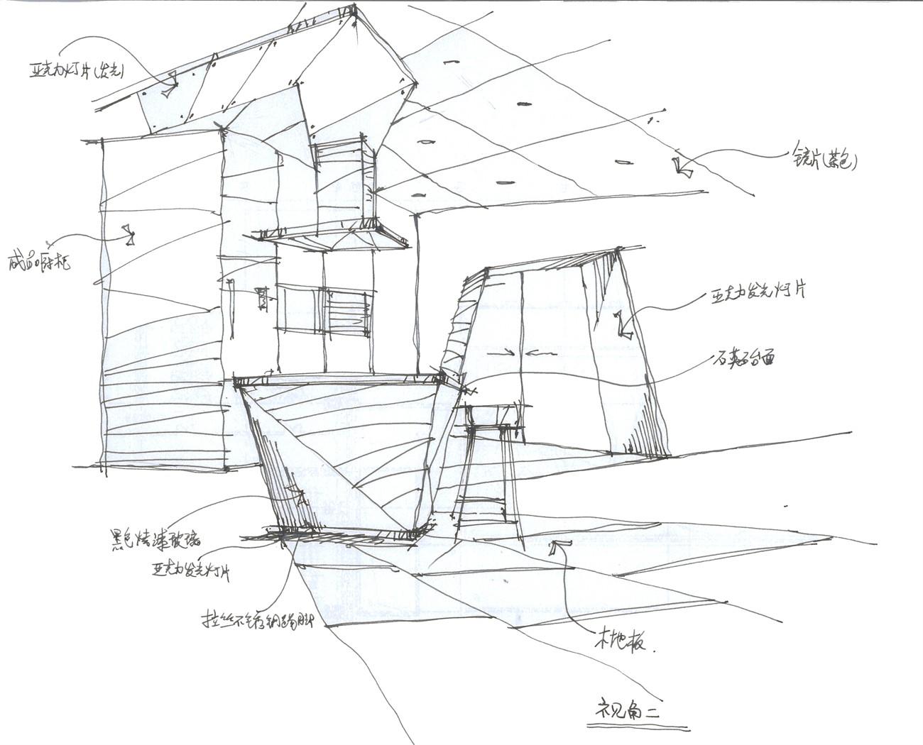 家用电器展示设计手绘