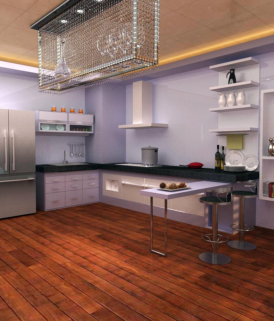 开放式代厨房装修效果图