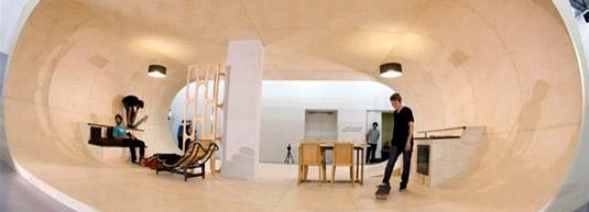 """Francois Perrin在加州小镇建""""滑板住宅"""""""