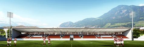 gmp建筑事务所为标准化赛事体育场设计看台