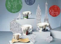 时尚波浪之城市咖啡杯