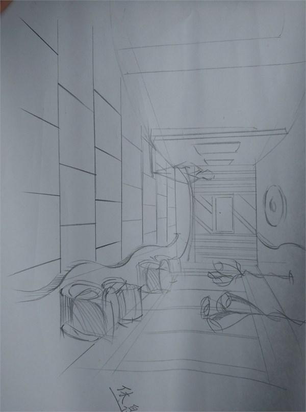 作品标题:马可波罗1295瓷砖概念展厅 使用产品清单:CAD平面布置图、设计说明、效果草图 作品描述:在当代人的眼中,一家店面里面无非就是为了商业而做设计,卖什么就做什么。却没能真正的把设计代入到人们的生活当中去,也就失去了设计最本质的东西。而这次我所设计的瓷砖概念展厅就是为了打破传统的商业布局,让人们进入到这个空间之后能有一种兴奋感,充满着好奇,留下深刻的第一印象。而这次的设计主题就是自然与自然的融合,石材与绿植的相互交融。店面外侧采用大量的玻璃幕墙,充分引入自然光纤,增加室内的通透性,而在室内平面的布